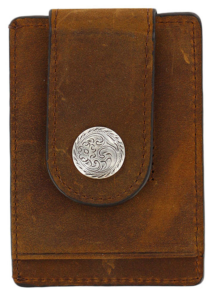 Cody James Men's Boot Stitch Money Clip Wallet, Brown, hi-res