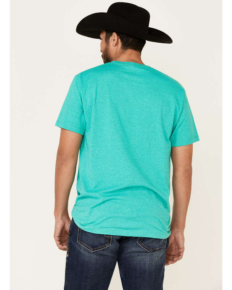 Cinch Men's Turquoise Logo Graphic Short Sleeve T-Shirt , Turquoise, hi-res