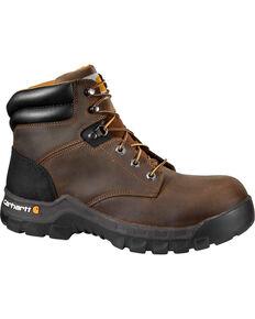"Carhartt Women's 6"" Brown Rugged Flex Work Boots - Composite Toe, Brown, hi-res"
