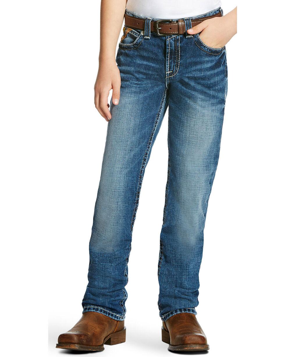 Ariat Boys' B5 Steiner Low Rise Slim Fit Jeans - Straight Leg, Indigo, hi-res