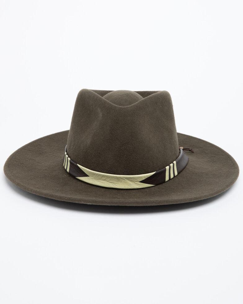 Nikki Beach Women's Moss Green Journey Wool Felt Hat , Moss Green, hi-res