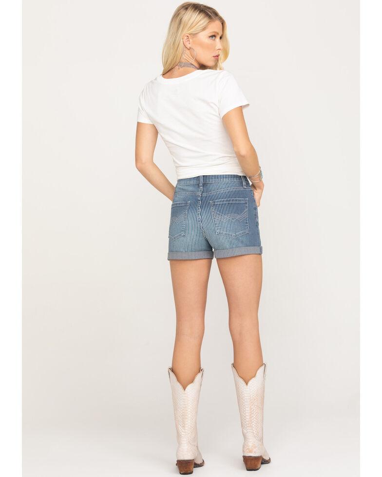 Idyllwind Women's Railway High Rise Rolled Cuff Denim Shorts, Blue, hi-res