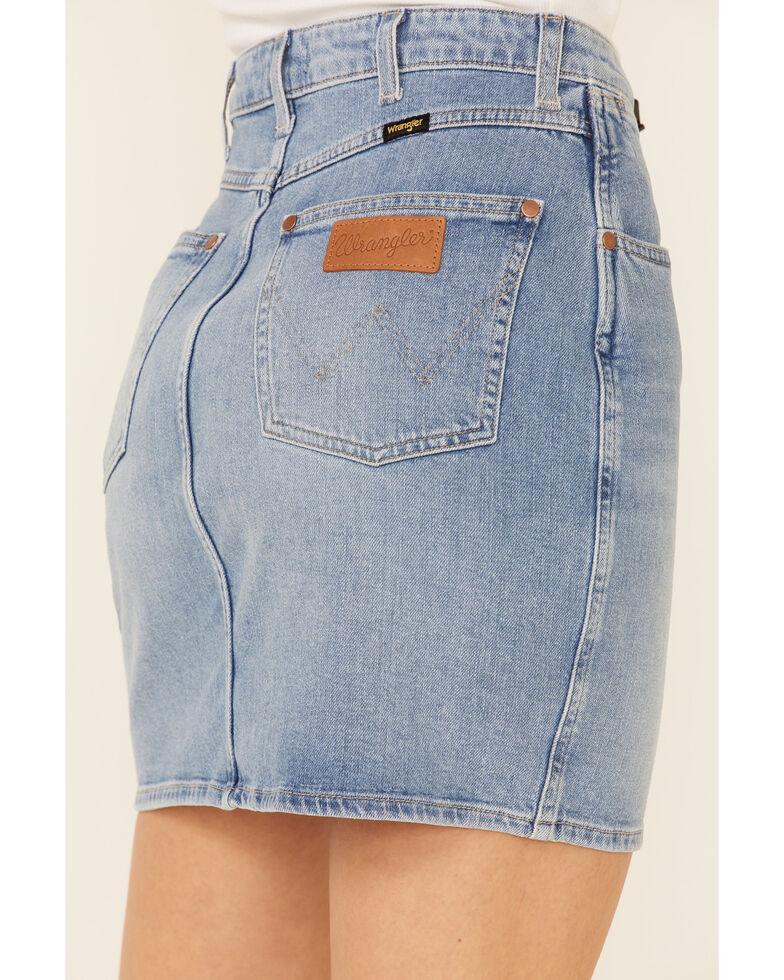 Wrangler Women's Denim Mom Skirt, Blue, hi-res