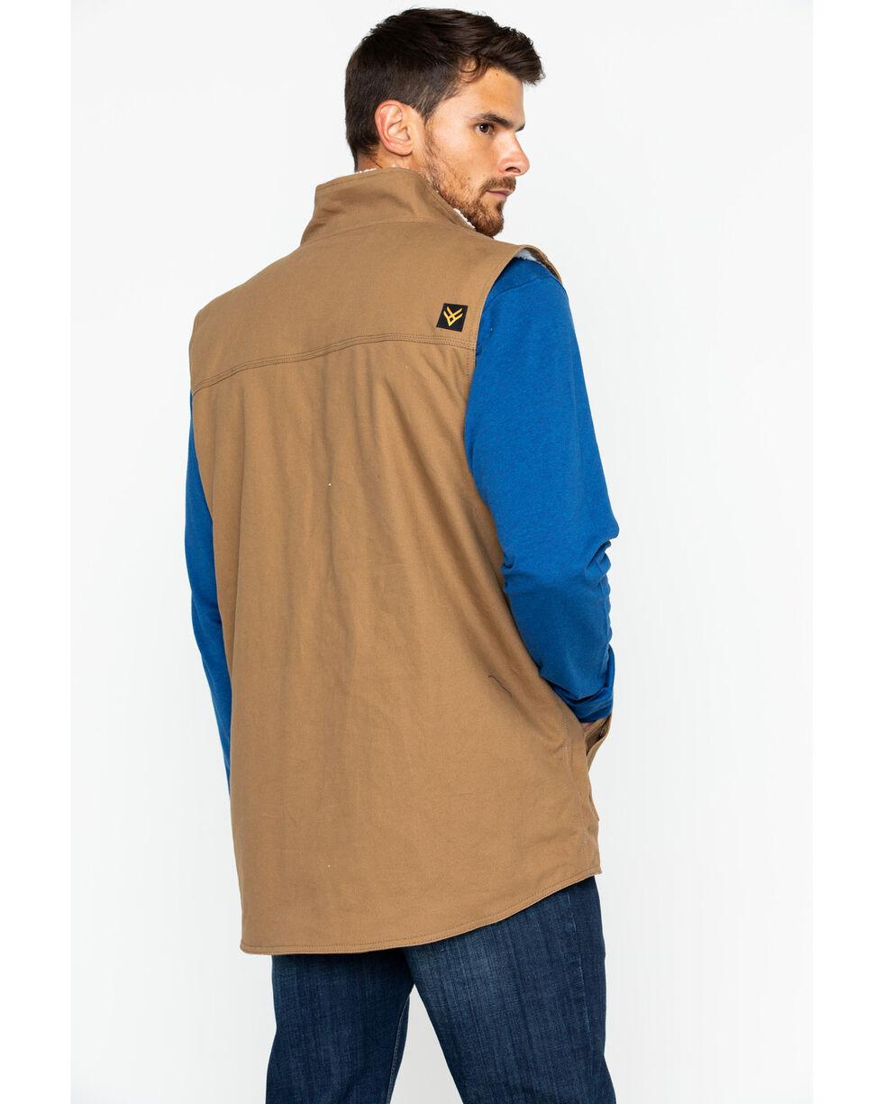 Hawx® Men's Canvas Work Vest, Brown, hi-res