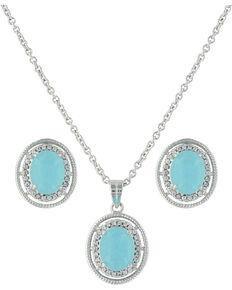 Montana Silversmiths Women's Haloed Summer Skies Jewelry Set , Silver, hi-res