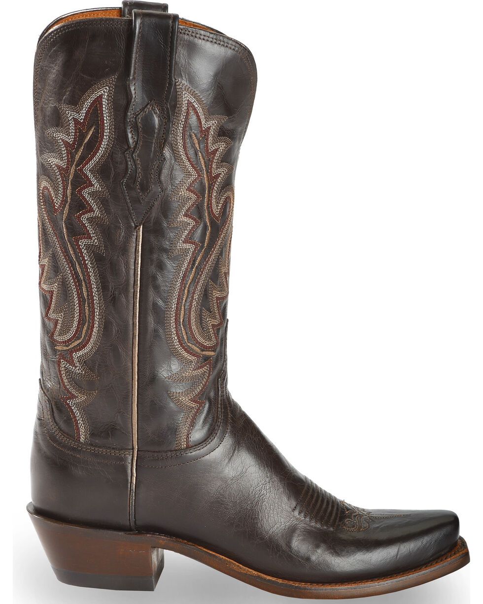 Lucchese Handmade 1883 Women's Cassidy Cowgirl Boots - Narrow Square Toe, Chocolate, hi-res