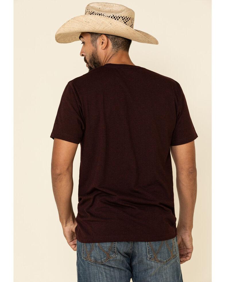 Cody James Men's Boot Dirt Graphic Short Sleeve T-Shirt , Burgundy, hi-res