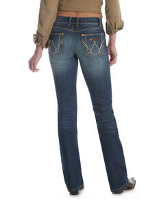Wrangler Retro Women's Dark Mae Bootcut Jeans - Plus, Blue, hi-res