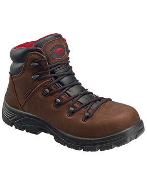 Avenger Men's Waterproof Hiker Boots - Composite Toe, Brown, hi-res