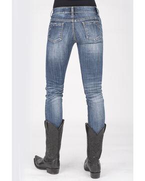 Stetson Women's 503 Pixie Stix Fit Skinny Straight Jeans, Blue, hi-res