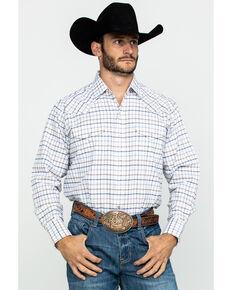 Ely Cattleman Men's Assorted Wrinkle Resistant Plaid Long Sleeve Western Shirt - Tall , Multi, hi-res