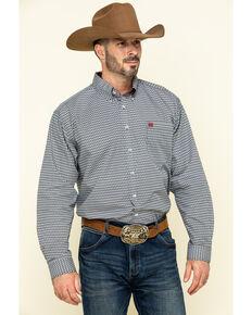 Cinch Men's Multi Geo Print Plain Weave Long Sleeve Western Shirt , Multi, hi-res