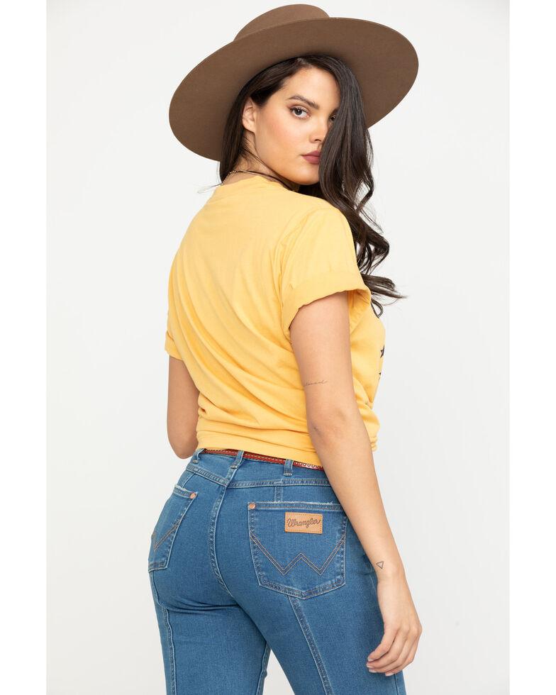 Wrangler Women's Mustard Cowgirl At Heart Graphic Tee, Dark Yellow, hi-res
