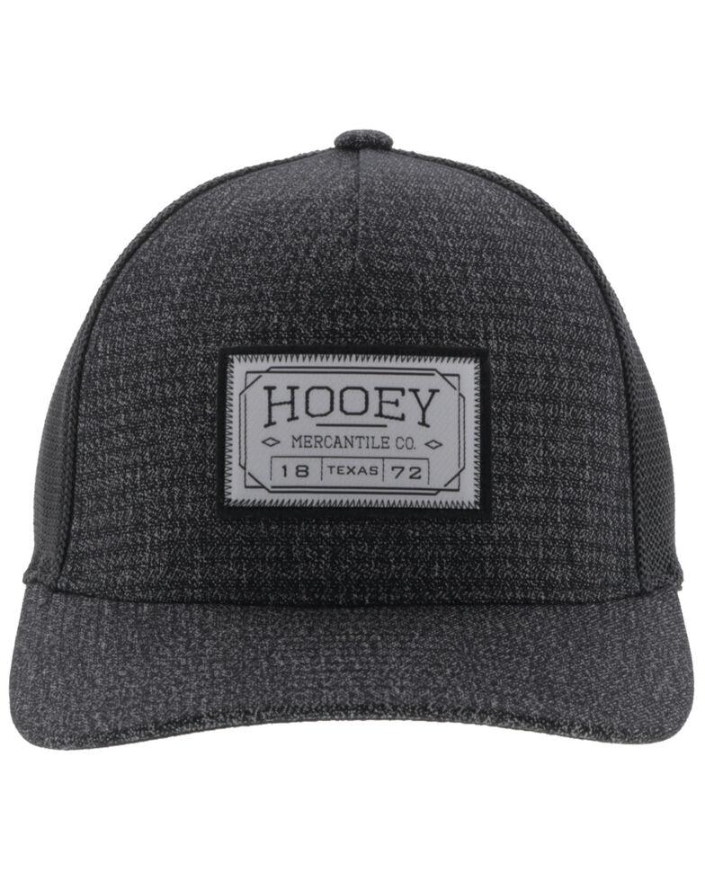 Hooey Men's Charcoal Doc Flex Fit Mesh Ball Cap , Charcoal, hi-res
