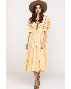 01b882e8613 Free People Women s Will Wait For You Midi Dress