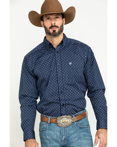 Ariat Men's Loveland Stretch Small Geo Print Long Sleeve Western Shirt , Multi, hi-res