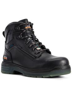 Ariat Men's Turbo Waterproof Work Boots - Carbon Toe, Black, hi-res