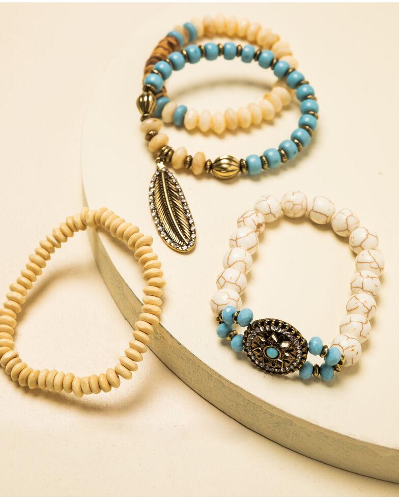 Shyanne Women's Crescent Sunset Stretch Concho Bracelet Set, Bronze, hi-res