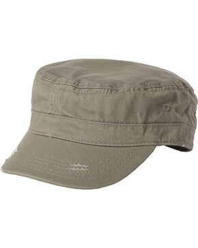 Dorfman Men's Olive Basic Cadet Cap , Multi, hi-res