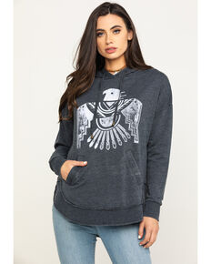 White Crow Women's Charcoal Thunderbird Hoodie, Charcoal, hi-res