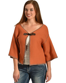 Angel Premium Women's Arizona Short Cardigan, Coral, hi-res