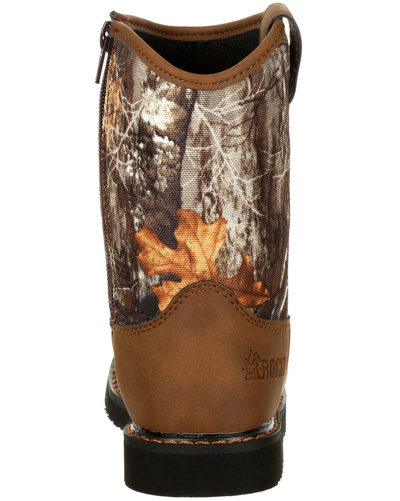 Rocky Youth Boys' Lil Ropers Outdoor Boots - Round Toe, Camouflage, hi-res