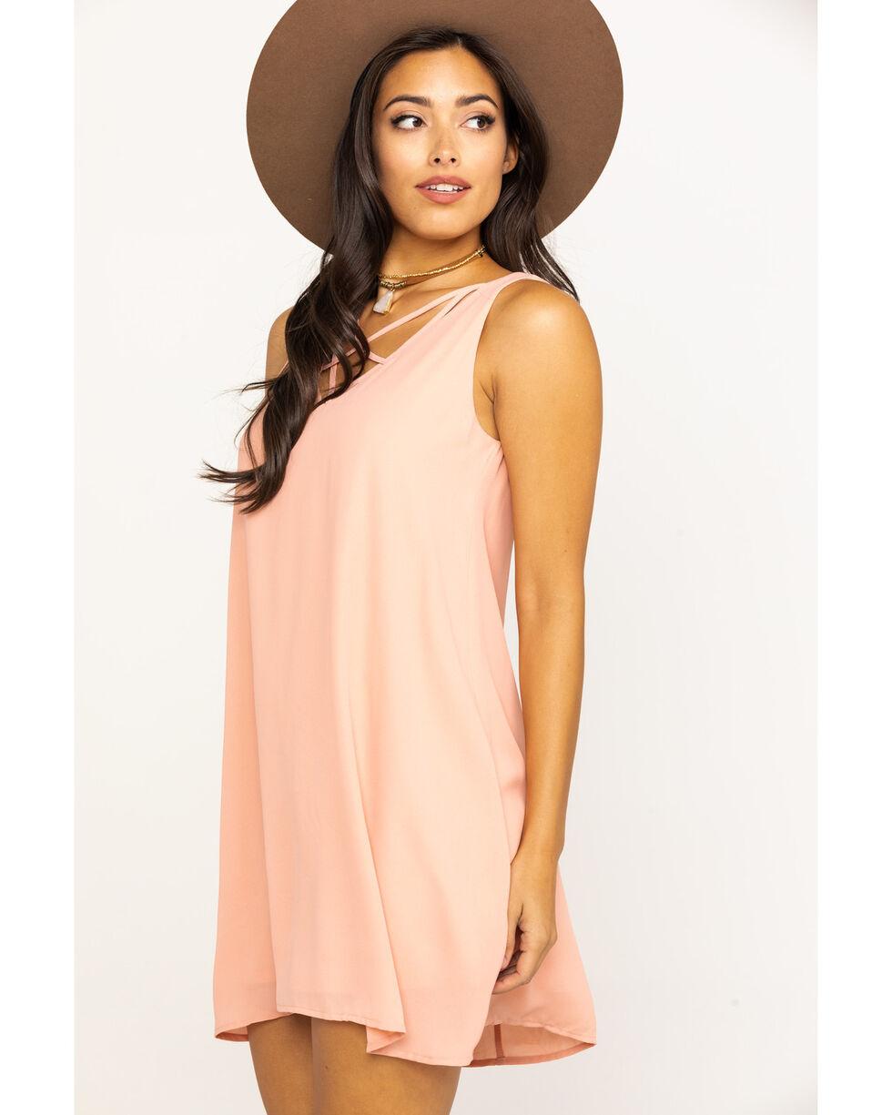 HYFVE Women's Solid Cage Dress, Blush, hi-res