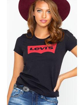 Levi's Women's Black Classic Logo Crew Neck Tee , Black, hi-res