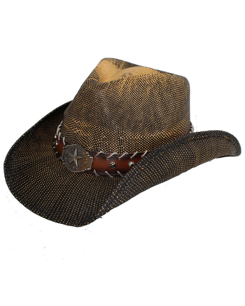 Peter Grimm Women's John Brown Concho Straw Hat, Brown, hi-res