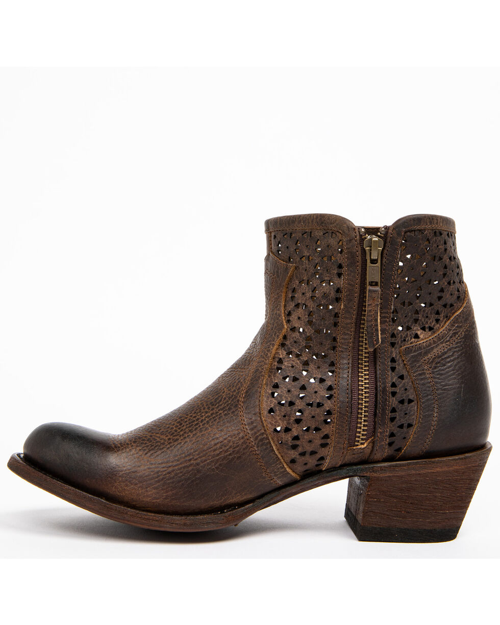 Shyanne Women's Collins Western Booties - Round Toe, Brown, hi-res
