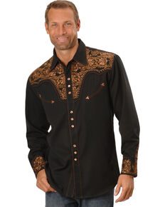 8d50c6dbb89 Scully Men s Copper Embroidered Gunfighter Shirt