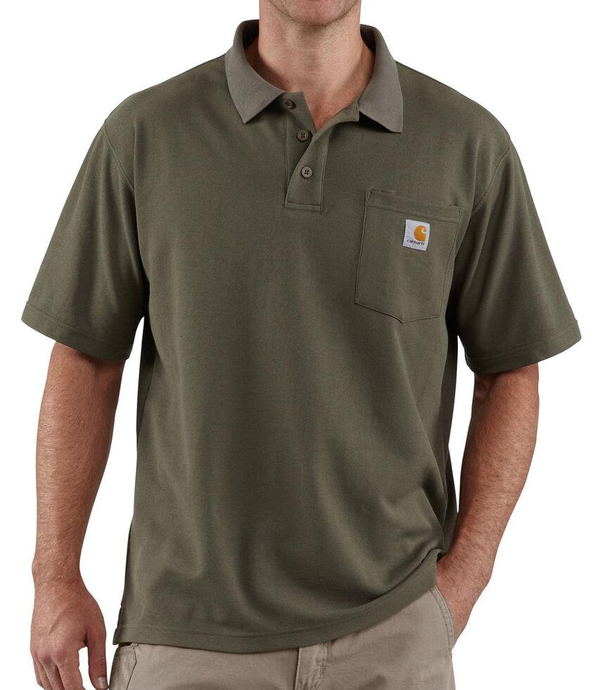 Carhartt Contractor's Work Pocket Polo Shirt, Moss, hi-res