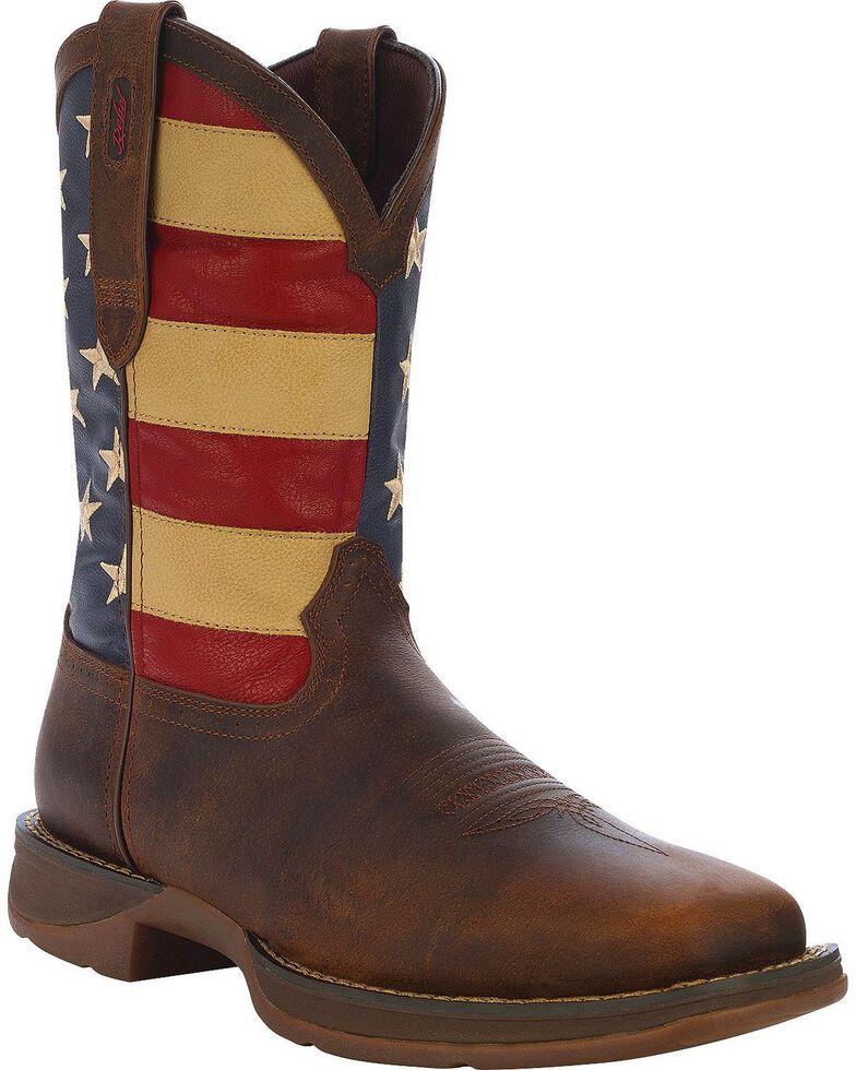 b3b74ce2633 Durango Rebel Men s American Flag Cowboy Boots - Square Toe ...