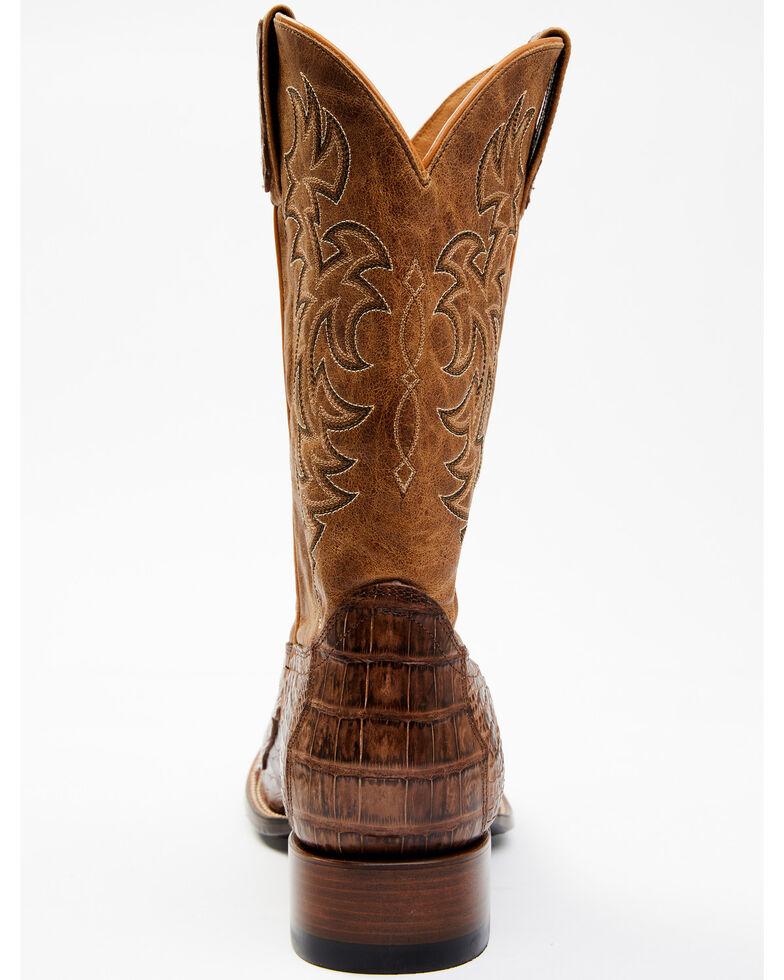 Cody James Men's Nuez Exotic Caiman Skin Western Boots - Wide Square Toe, Tan, hi-res