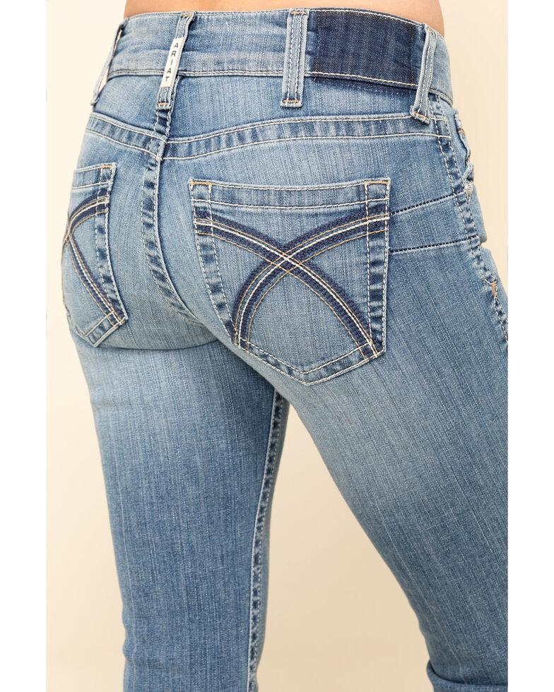 Ariat Women's R.E.A.L Light Wash Rose Bootcut Jeans, Blue, hi-res