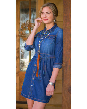 Ryan Michael Women's Indigo Jean Jacket Dress , Indigo, hi-res