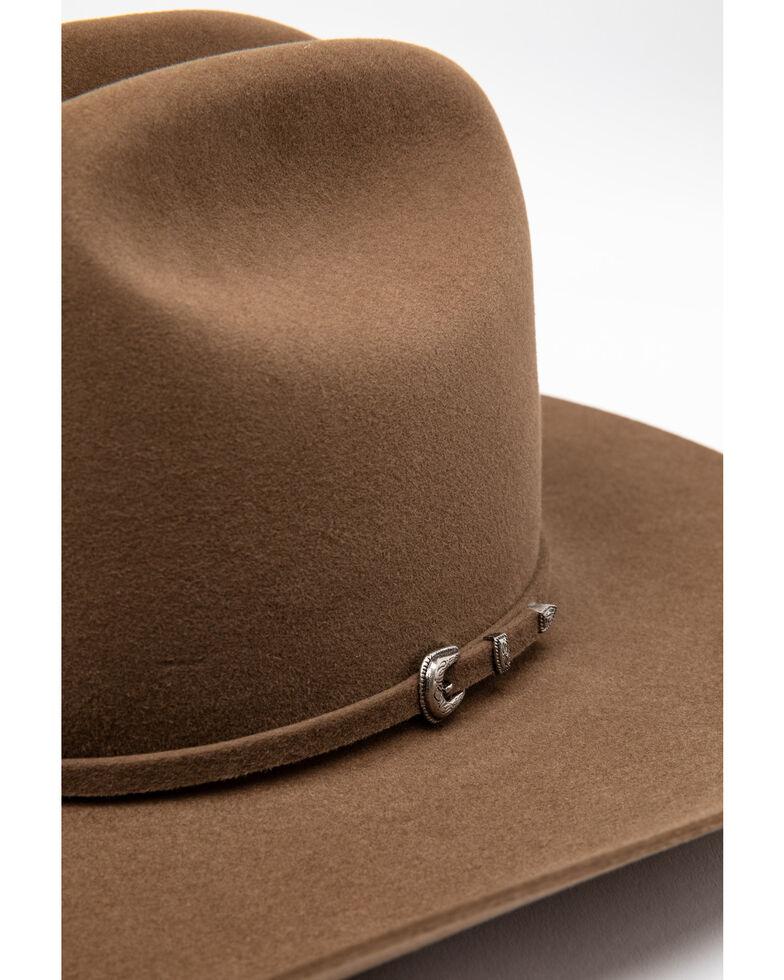 Rodeo King Men's 5X Top Hand Tan Belly Fur Felt Western Hat , Tan, hi-res