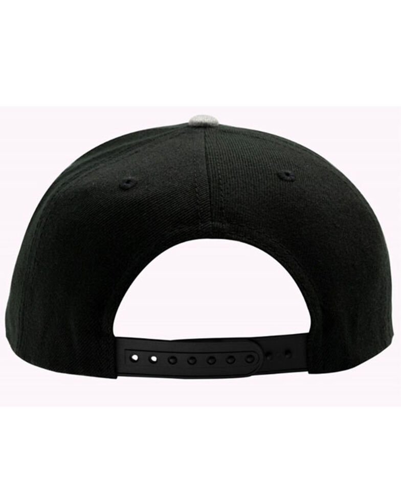 H Bar C Black & Grey Budweiser Embroidered Logo Ball Cap , Black, hi-res