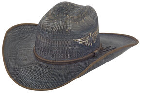 Justin Men's Bent Rail Blue Fenix Straw Cowboy Hat, Blue, hi-res