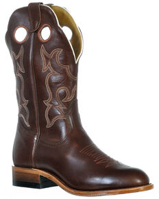 Boulet Men's Ranch Hand Western Boots - Round Toe, Tan, hi-res
