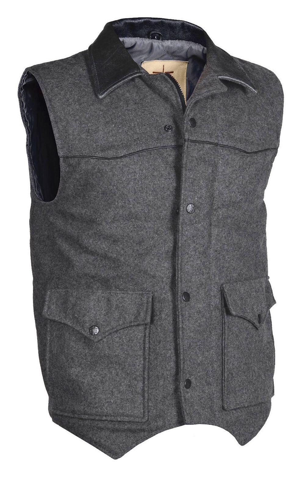 STS Ranchwear Men's Lariat Charcoal Grey Vest, , hi-res