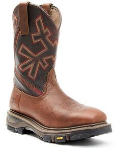Cody James Men's ASE7 Decimator Western Work Boots - Composite Toe, Dark Brown, hi-res