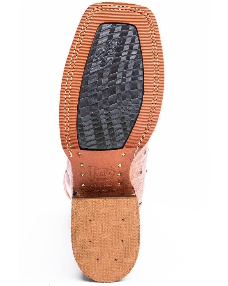 Justin Men's Cognac Ostrich Western Boots - Snip Toe, Cognac, hi-res