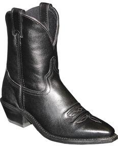 "Abilene Black 7"" Cowgirl Boots - Snip Toe , Black, hi-res"