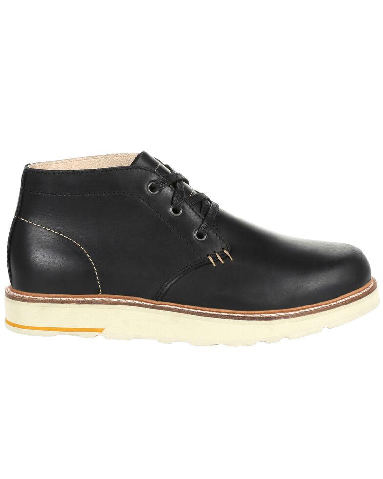 Georgia Boot Men's Small Batch Black Chukka Boots - Round Toe, Black, hi-res