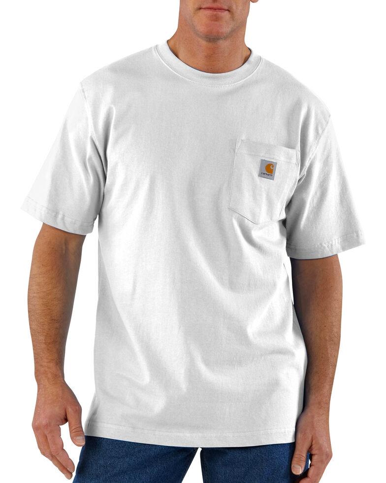 Carhartt Short Sleeve Pocket Work T-Shirt - Big & Tall, White, hi-res