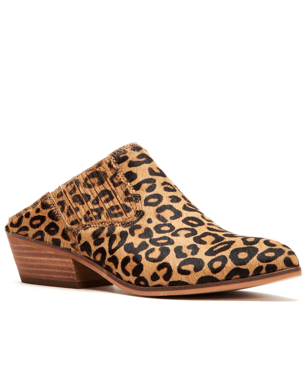 Rubie Leopard Mule Shoes - Medium Toe