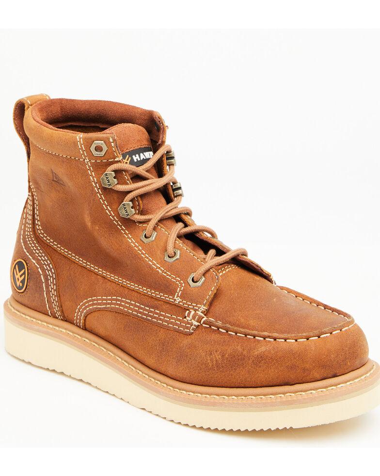Hawx Men's Tan Wedge Work Boots - Soft Toe, Tan, hi-res