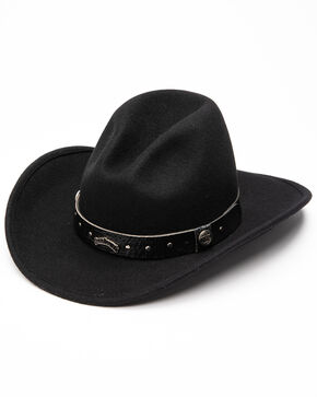 Jack Daniels Men's Crushable Wool Gus Crown Hat , Black, hi-res