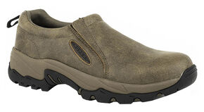 Roper Men's Air Light Slip-On Shoes, Tan, hi-res